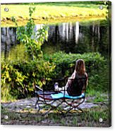 Morning By The Pond Acrylic Print