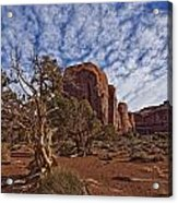 Morning Clouds Over Monument Valley Acrylic Print by Robert Postma
