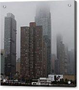 Morning Fog In New York City Acrylic Print