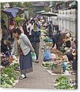 Morning Market In Luang Prabang Acrylic Print