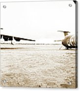 Mothballed C-141s Acrylic Print by Jan W Faul
