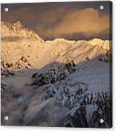 Mount Rolleston At Dawn Arthurs Pass Np Acrylic Print