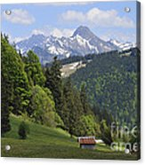 Mountain Landscape In The Alps Acrylic Print