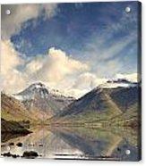 Mountains And Lake At Lake District Acrylic Print
