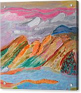 Mountains In The Clouds Acrylic Print