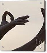 Mudra Hand Gesture Acrylic Print