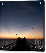Naples Pier Sunset Acrylic Print