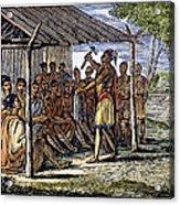 Native American Council, C1835 Acrylic Print