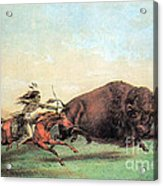 Native American Indian Buffalo Hunting Acrylic Print