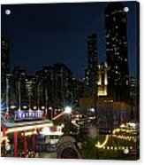 Navy Pier At Night Acrylic Print