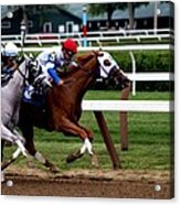Neck And Neck At Saratoga One Acrylic Print