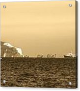 Needles On The Isle Of Wight As Viewed From Mudeford Acrylic Print
