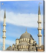 New Mosque In Istanbul Acrylic Print by Artur Bogacki