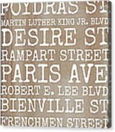 New Orleans Streets Acrylic Print