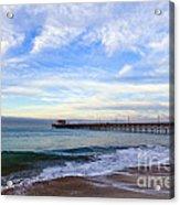 Newport Beach Pier Acrylic Print by Paul Velgos