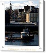 Nh Working Harbor Acrylic Print by Jim McDonald Photography