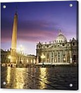 Nightfall At The Square At St. Peters Acrylic Print