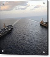 Nimitz-class Aircraft Carriers Transit Acrylic Print