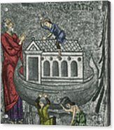 Noah Building The Ark Acrylic Print