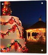 Oakham Massachusetts 250th Anniversary Holiday Lights Acrylic Print