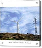 Obidos Wind Turbine II Portugal Acrylic Print