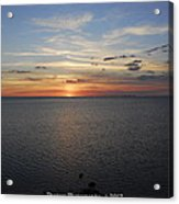 Observation Tower Sunset  Acrylic Print