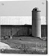 Old Barn And Silo Acrylic Print