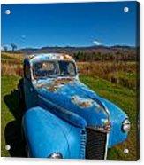 Old Blue Acrylic Print