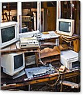 Old Computers In Storage Acrylic Print