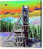 Old Mining Structure Acrylic Print