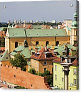 Old Town In Warsaw Acrylic Print