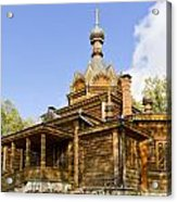 Old Wooden Russian Orthodox Church  Acrylic Print