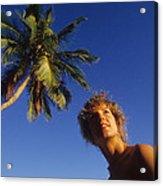 On Little Palm Island Acrylic Print