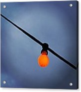 Orange Light Bulb Acrylic Print