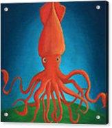 Orange Squid Acrylic Print