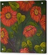 Orange Sunflowers Acrylic Print