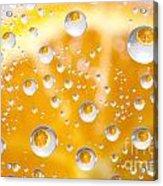 Orange Water Drops Acrylic Print