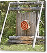 Outdoor Wooden Bulls-eye Acrylic Print by Jaak Nilson
