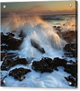 Over The Rocks Acrylic Print by Mike  Dawson