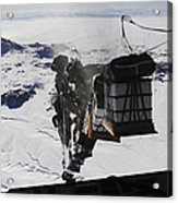 Pallets Are Released From A C-130 Acrylic Print