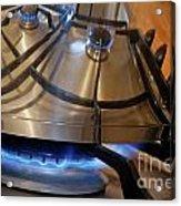 Pan On Gas Hob Acrylic Print