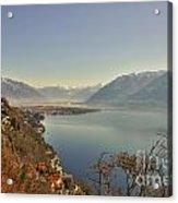 Panoramic View Over A Lake Acrylic Print