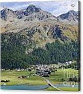 Panoramic View Over Mountain Acrylic Print