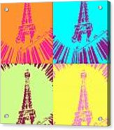 Paris In Vegas Acrylic Print by Amber Hennessey