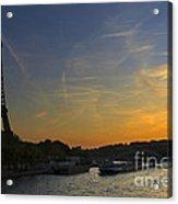 Parisian Sunset. Acrylic Print