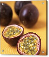 Passion Fruit Halves Acrylic Print