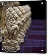 Pawns In A Row Acrylic Print