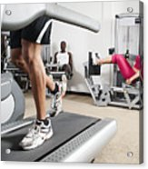 People Exercising In Health Club Acrylic Print