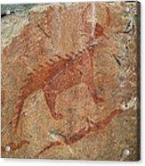 Petroglyph At Agawa Rock Acrylic Print