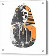 Pharaoh Stencil  Acrylic Print by Pixel  Chimp